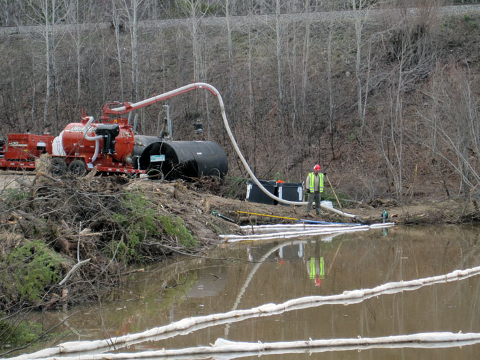 Remediation Equipment at Work on Emergency Spill Response